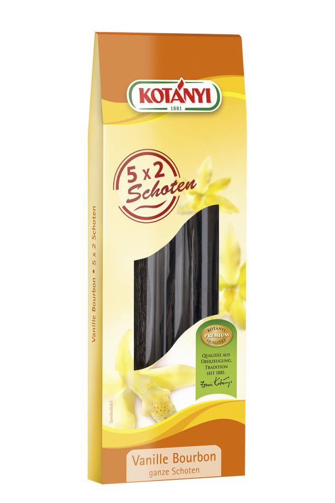 Vanilka Bourbon lusk 5x2ks Kotányi